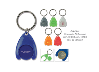 Keyring with cart coin