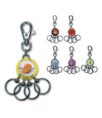 4 Rings Synthetic Keyring