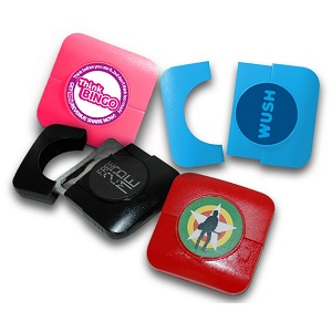 Square Plastic Condom Case (full colour label)