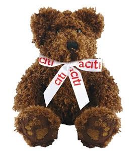5 inch Charlie Bear & Bow