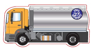 Tanker Lorry Shaped Magnet