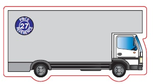 Lorry Shaped Magnet