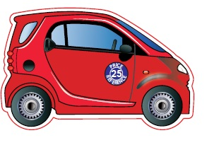 Smart Car Shaped Magnet