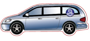 Chrysler Car Shaped Magnet