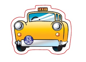 Yellow Cab Taxi Shaped Magnet