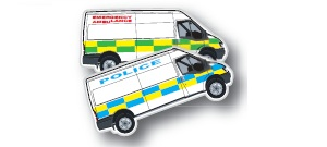 Emergency Vehicle Shaped Magnets