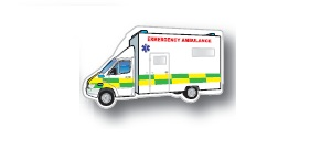 Ambulance Shaped Magnets