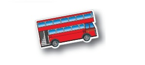 Double Decker Bus Shaped Magnets
