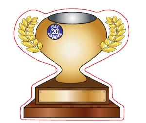 Trophy Shaped Magnet