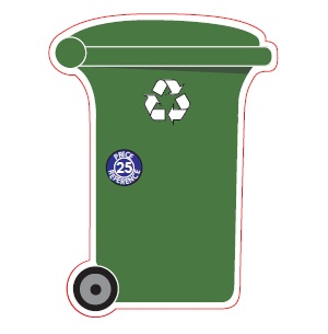 Recycle Wheelie Bin Shaped Magnet – Green