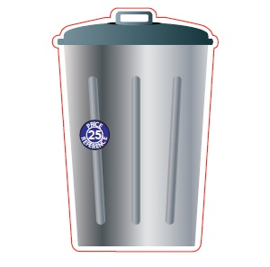 Recycle Bin Shaped Magnet