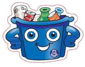 Recycle Box Shaped Magnet - Cartoon