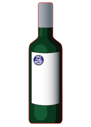 Wine Bottle Shaped Magnet