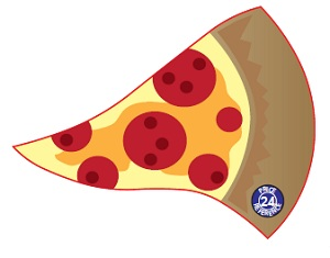 Pizza Slice Shaped Magnet