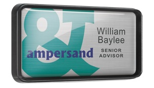 Digitally Printed Name Badges (with individual names)