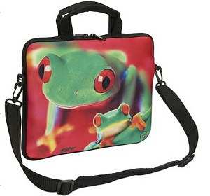 Neoprene Zipped iPad Sleeve with handles and shoulder strap – Full Colour