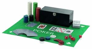 Poker Set With Gaming Mat