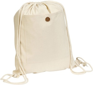 Headcorn' Cotton 'Kangaroo' Drawstring Bag