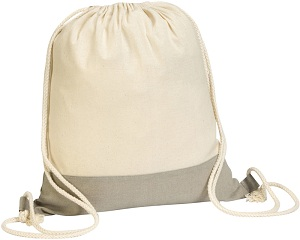 Coombe' Two Tone 4.5oz Cotton Drawstring Bag.