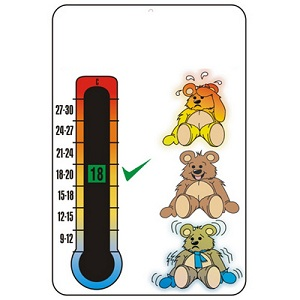 3 Teddy Room Thermometer