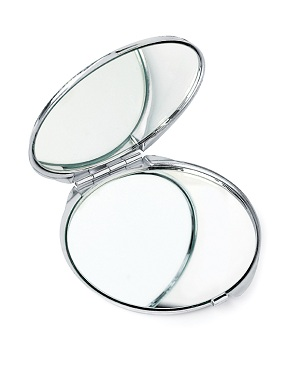 Chrome Compact Mirror