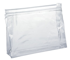 Clear Slide Zipper PVC bag