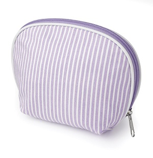 Striped Cotton Make Up Bag