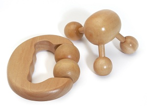 Wooden Tripod Massager