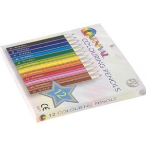 Carnival Colouring Pencils Half Size 12 Pack