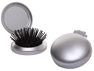 Silver Folding Hairbrush