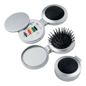 Compact Brush and Sewing Kit
