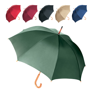 "Traditional 23"" Wood Crook Umbrella"