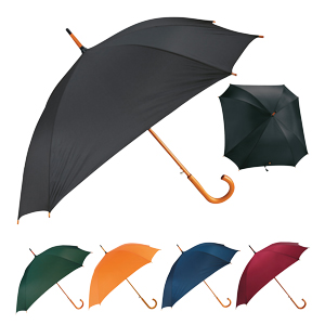 "Square 23"" Wood Crook Umbrella"