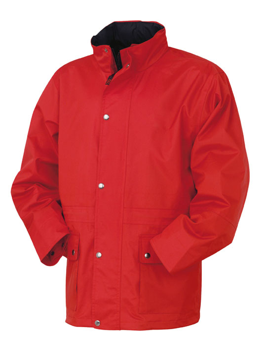 Waterproof windbreaker with thermo-sealed seams