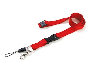 Lanyard with safety buckle